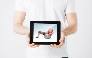 tablet em uso